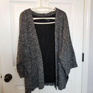 Ann Taylor The Loft Black/White/Gray Knit Cardigan